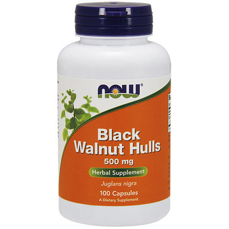 NOW Черен орех (Black Walnut Hulls) 500mg 100 капсули