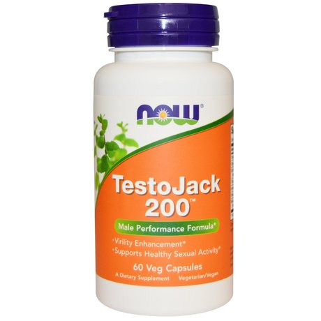 NOW TestoJack 200™ 60 веган капсули