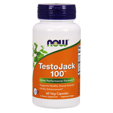 NOW TestoJack 100™ 60 веган капсули