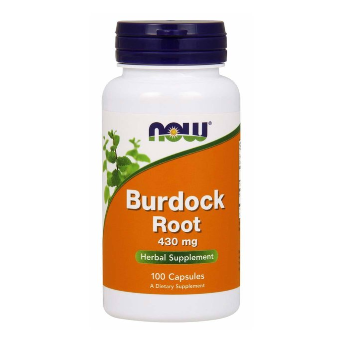NOW Burdock root (Репей) 430мг 100 капсули